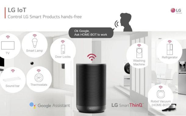 LG ThinQ con Google Home-comando vocale